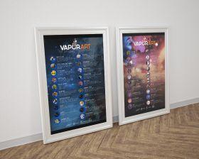 Posters e-liquids Vaporart